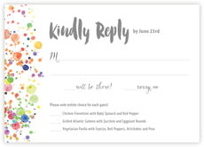 Watercolor Droplets response cards