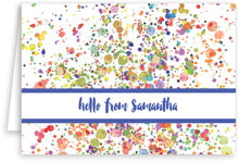 Watercolor Droplets folding stationery cards
