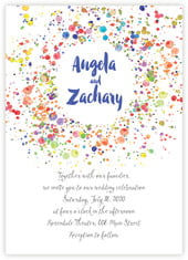 Watercolor Droplets invitations