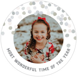 Watercolor Confetti round coasters