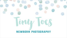 Watercolor Confetti business cards