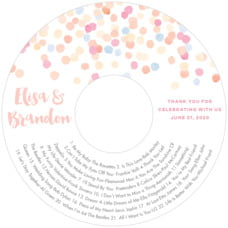Watercolor Confetti cd labels