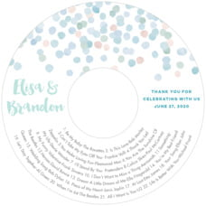 Watercolor Confetti wedding CD/DVD labels