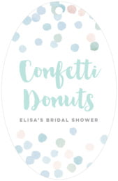 Watercolor Confetti large oval hang tags