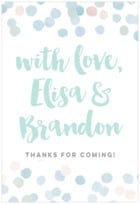 Watercolor Confetti custom labels