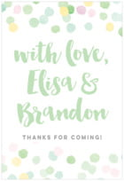 Watercolor Confetti tall rectangle labels