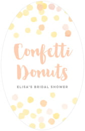 Watercolor Confetti tall oval labels