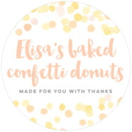 Watercolor Confetti large circle labels