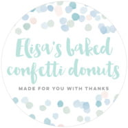 Watercolor Confetti wedding labels