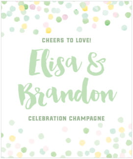 Watercolor Confetti large labels