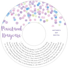 Watercolor Confetti Cd Label In Lilac
