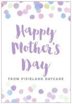 Watercolor Confetti mother's day labels
