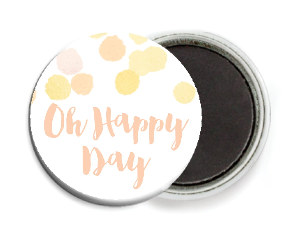 custom button magnets - sunburst - watercolor confetti (set of 6)