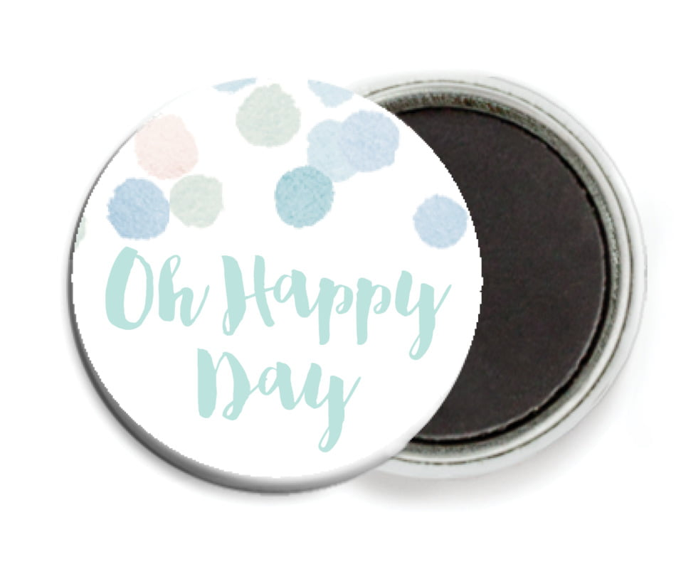 custom button magnets - sea glass - watercolor confetti (set of 6)