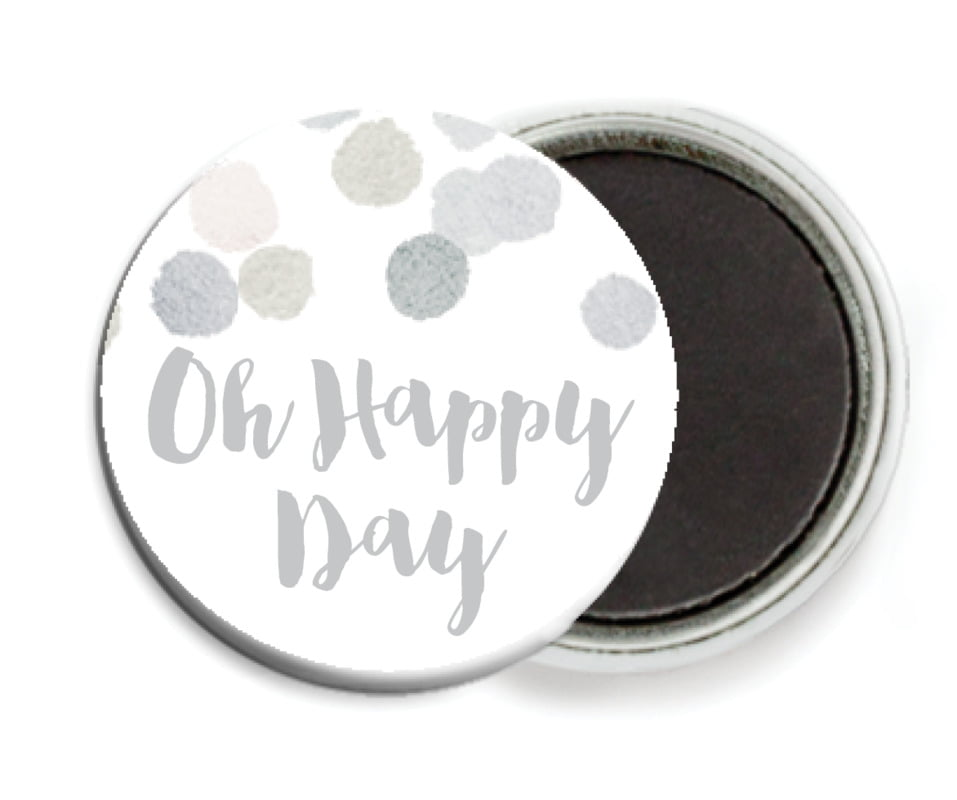 custom button magnets - stone - watercolor confetti (set of 6)