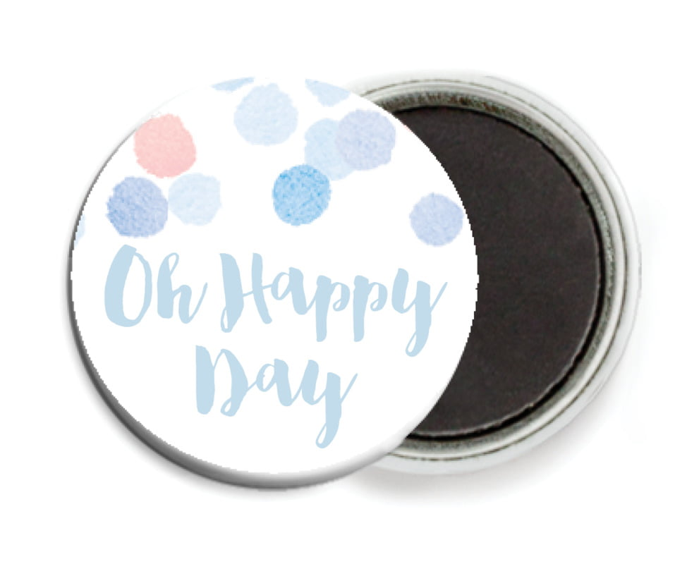 custom button magnets - rose quartz/serenity - watercolor confetti (set of 6)