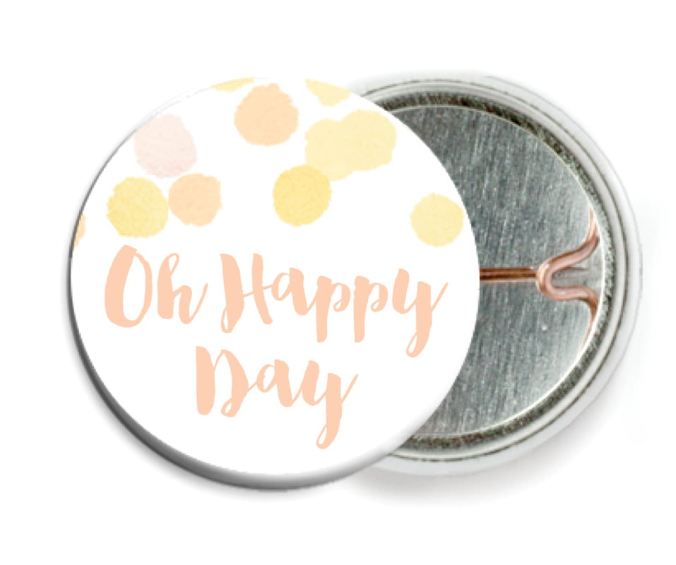 custom pin back buttons - sunburst - watercolor confetti (set of 6)