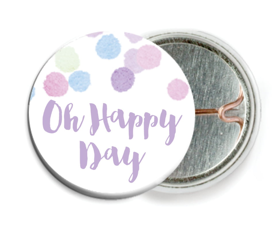custom pin back buttons - lilac - watercolor confetti (set of 6)