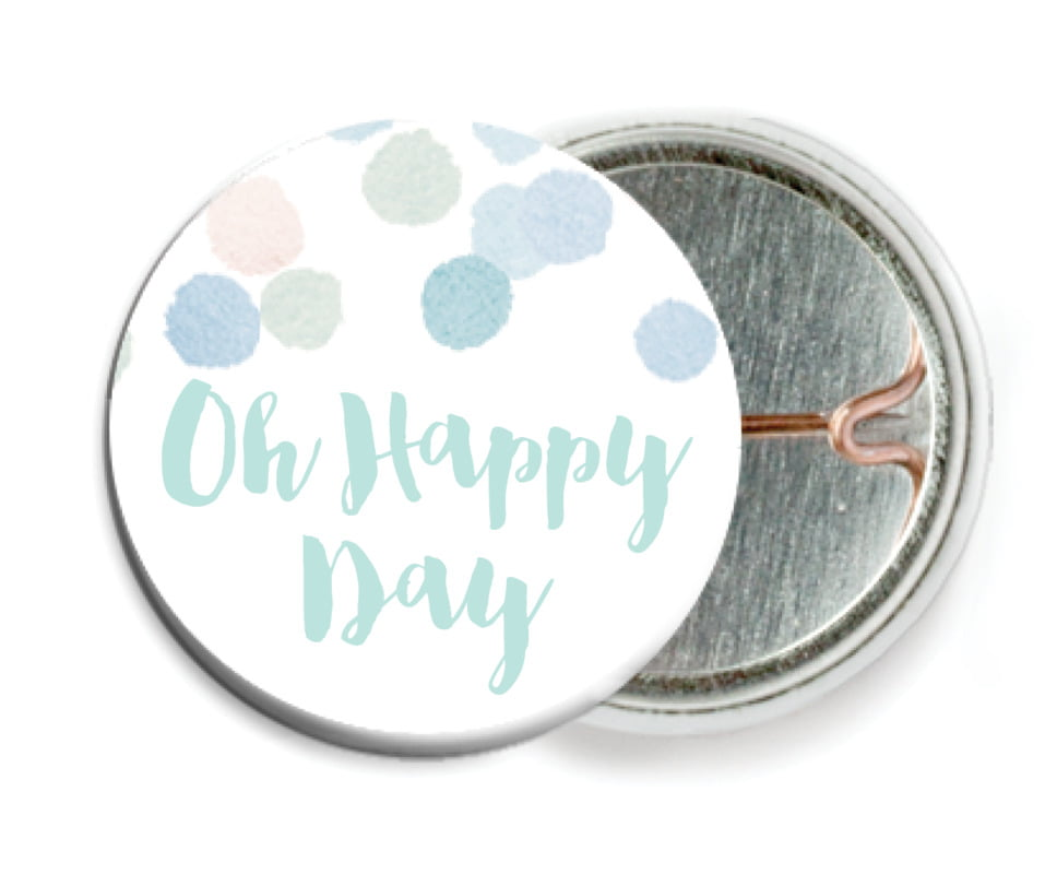 custom pin back buttons - sea glass - watercolor confetti (set of 6)