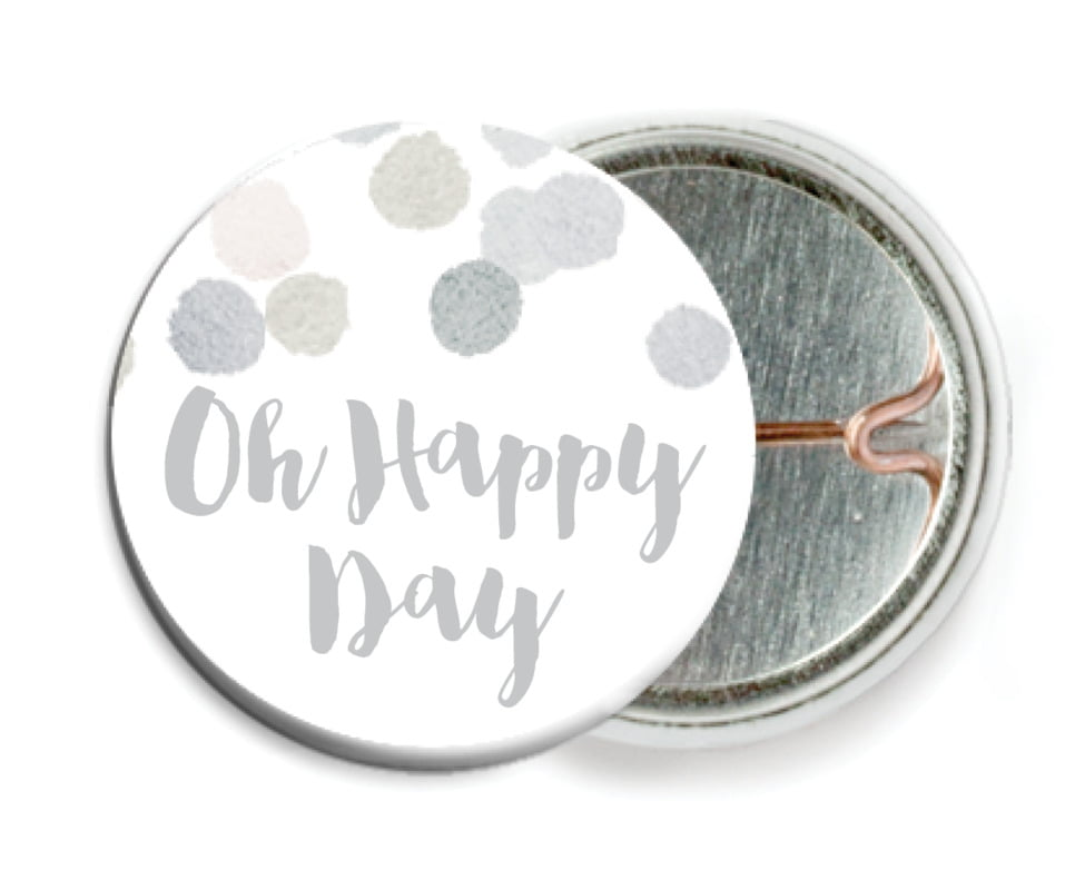 custom pin back buttons - stone - watercolor confetti (set of 6)