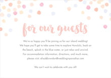 custom enclosure cards - peach - watercolor confetti (set of 10)