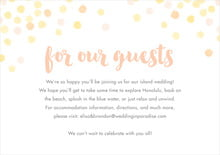 custom enclosure cards - sunburst - watercolor confetti (set of 10)
