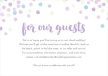 custom enclosure cards - lilac - watercolor confetti (set of 10)
