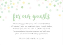 custom enclosure cards - mint - watercolor confetti (set of 10)