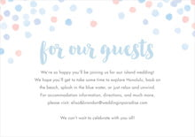 custom enclosure cards - rose quartz/serenity - watercolor confetti (set of 10)