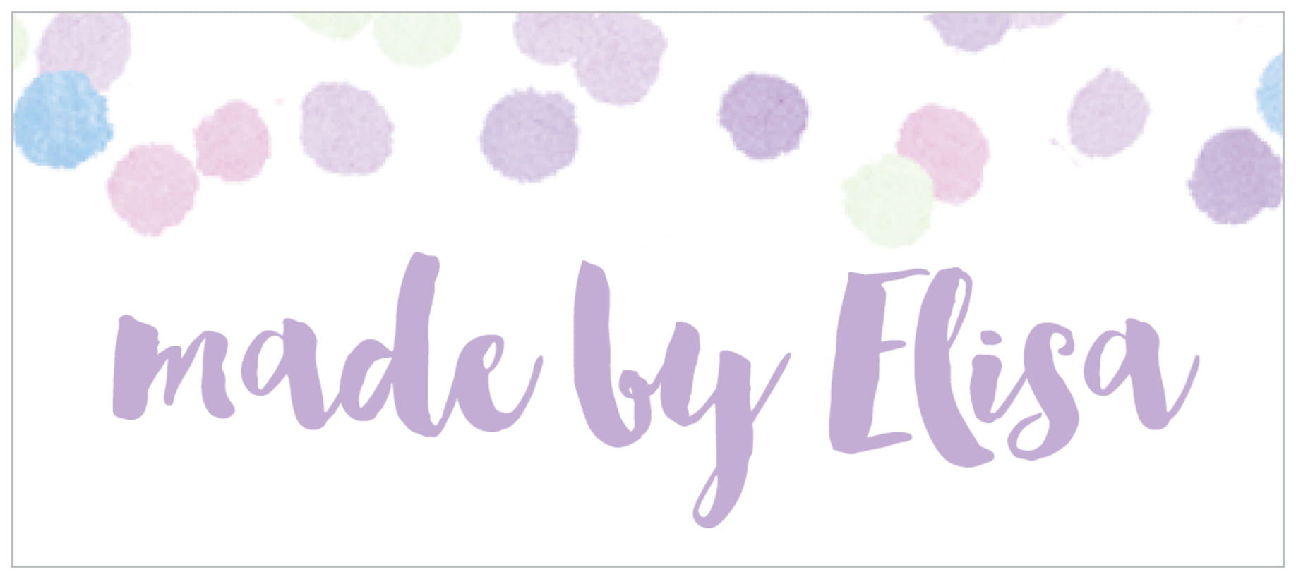 small rectangle food/craft labels - lilac - watercolor confetti (set of 24)