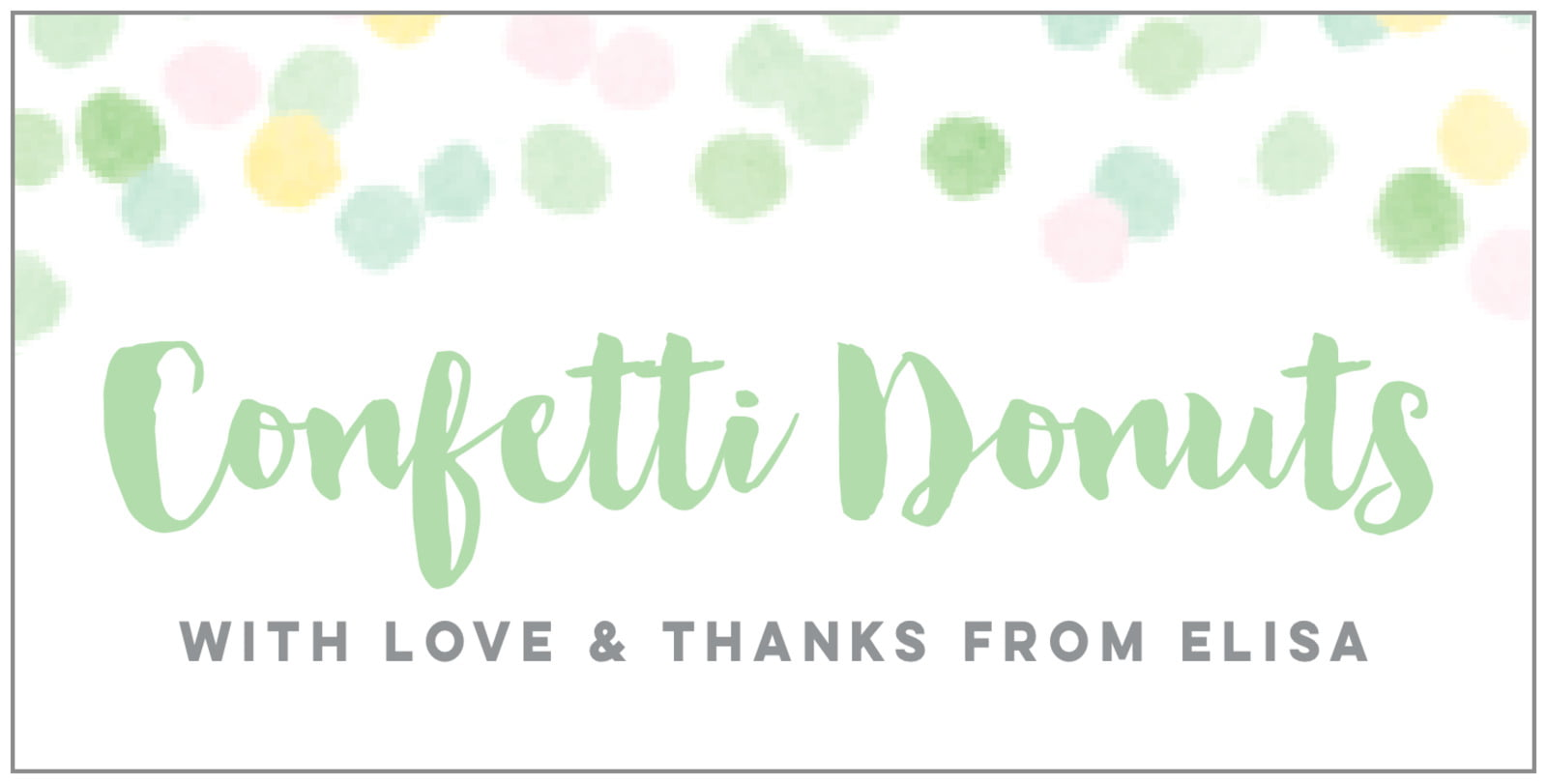 small rectangular food/craft labels - mint - watercolor confetti (set of 24)