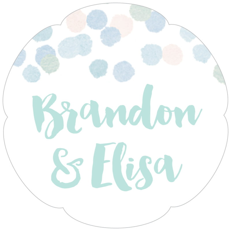 petal food/craft labels - sea glass - watercolor confetti (set of 30)