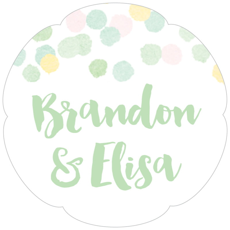 petal food/craft labels - mint - watercolor confetti (set of 30)