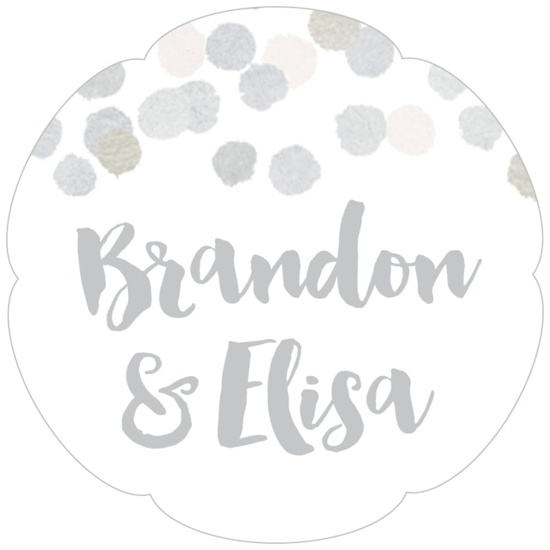 petal food/craft labels - stone - watercolor confetti (set of 30)