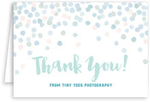 Watercolor Confetti wedding thank you cards