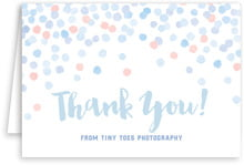 Watercolor Confetti folding cards