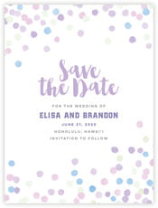 Watercolor Confetti save the date cards