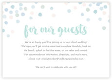 Watercolor Confetti enclosure cards