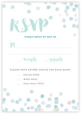 Watercolor Confetti response cards