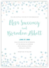 Watercolor Confetti invitations