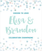Watercolor Confetti wine labels