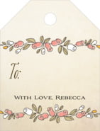 Sweet Rose small luggage gift tags