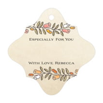 Sweet Rose fancy diamond gift tags