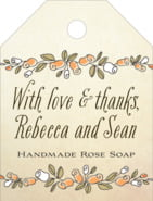 Sweet Rose small luggage tags