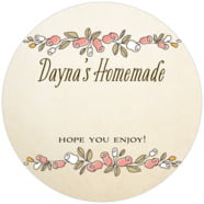 Sweet Rose large circle gift labels
