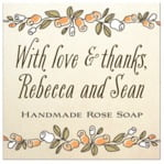 Sweet Rose square labels