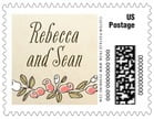 Sweet Rose business postage stamps
