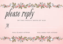 custom response cards - grapefruit - sweet rose (set of 10)