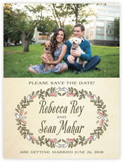 Sweet Rose wedding save the date cards