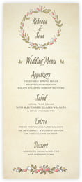 Sweet Rose menus